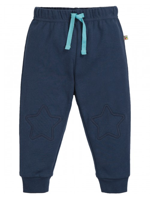 Pantaloni din bumbac organic- Frugi - Kneepatch Crawlers Blue