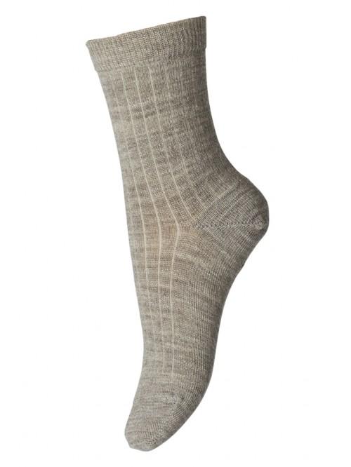 Șosete subțiri lână Wool Rib - mp Denmark  - Light Brown