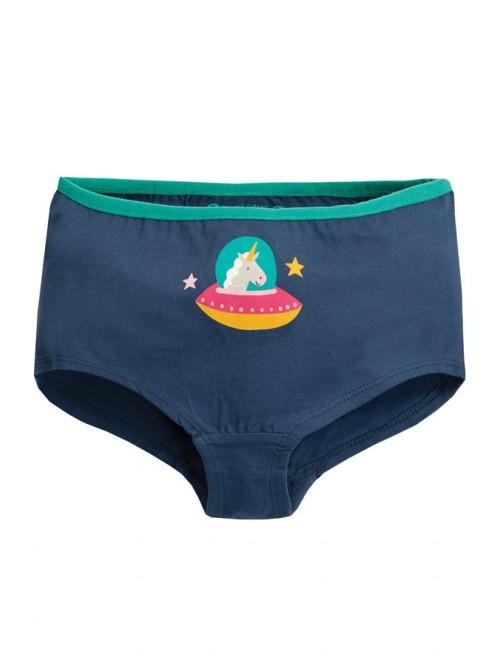 Boxeri pentru fete - Frugi - Space Blue Unicorn