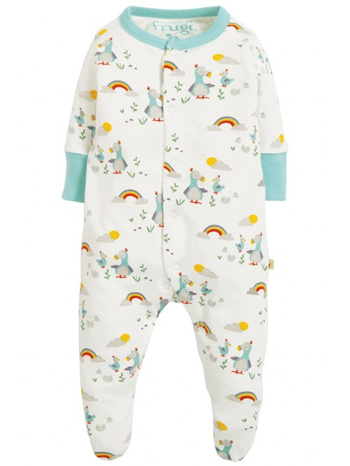Pijamale bebelusi din bumbac organic - Frugi - Lovely Babygrow Delightful Dodos