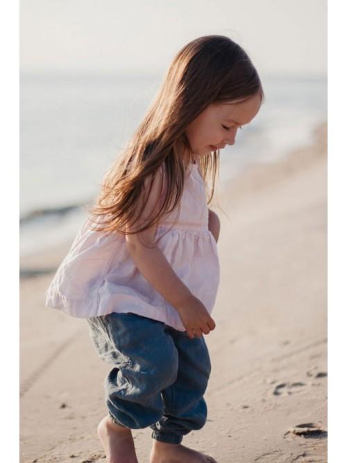 Tunică fără mâneci - La Petite Alice - Linen Sleeveless Tunic for Girls
